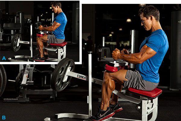 Упражнение на ноги сидя