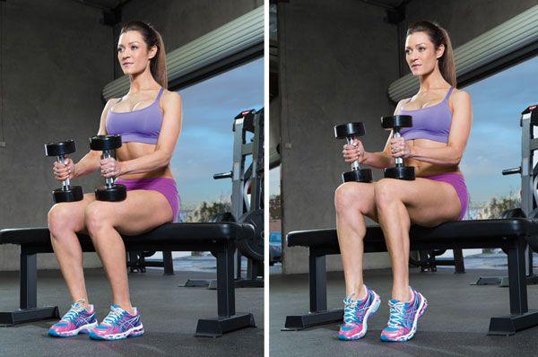 Упражнение для ног с гантелями