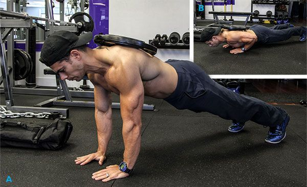 Тренировка груди с отягощением