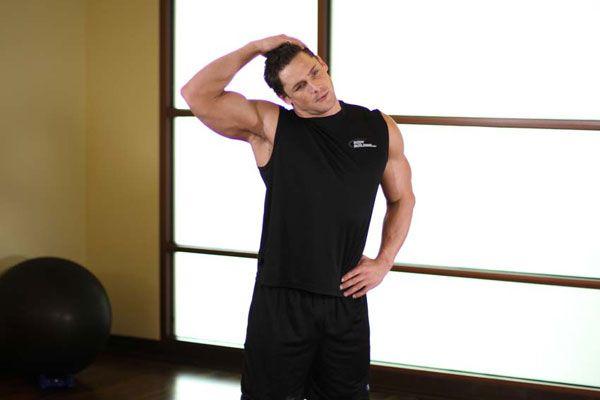 Растяжка боковых мышц шеи