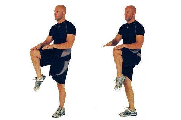 Бег с высоким подниманием колена