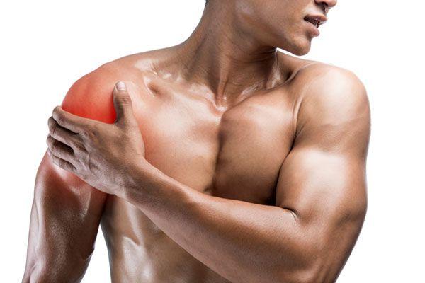 Боль в мышцах плеча после тренировки.