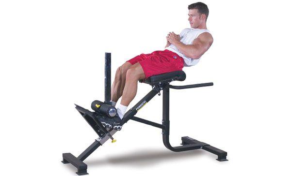 Качаем мышцы живота на римском стуле