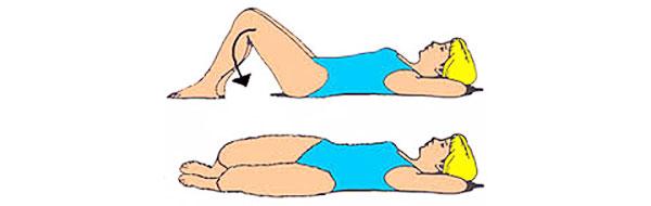 Отведение коленей лежа