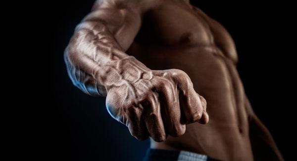 Мощные кисти рук