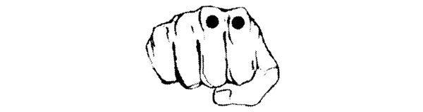 Костяшки указательного и среднего пальцев