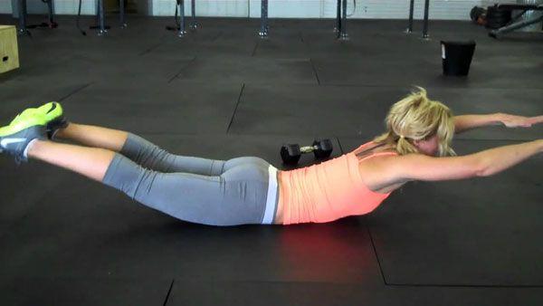 Поднятие ног и рук лежа
