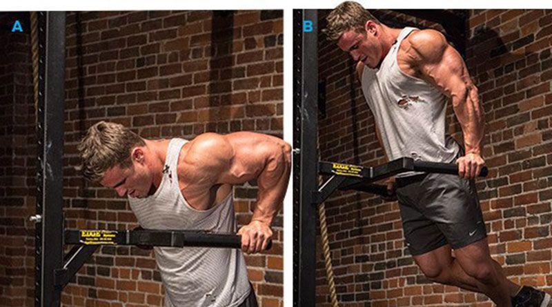 Как накачать грудные мышцы на брусьях.