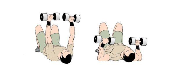 Тренировка груди и трицепсов дома
