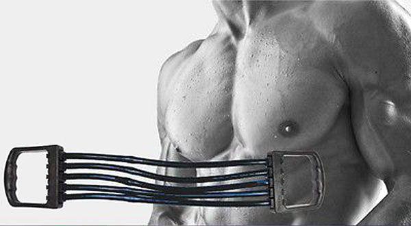 Тренировка груди эспандером