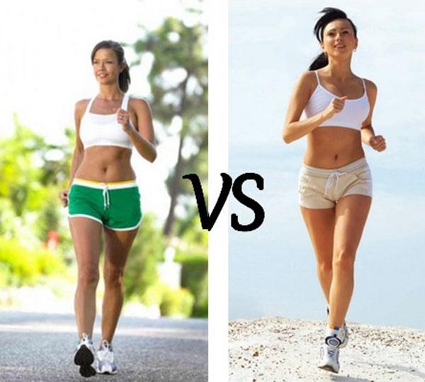 Ходьба или бег, что лучше для похудения?