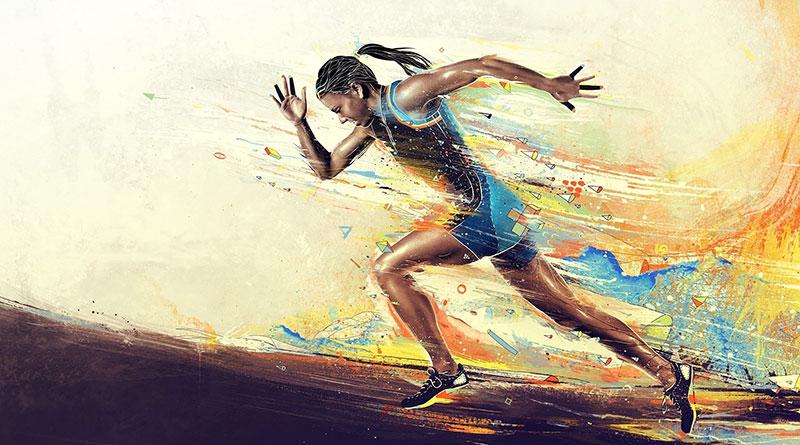 Скорость бега обычного и тренированного человека