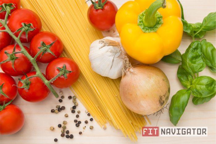 Овощи и макароны