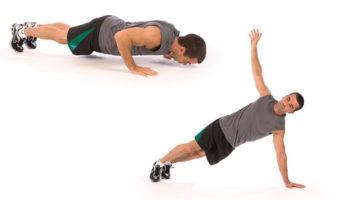 Техника т-отжиманий с поворотом корпуса: работа мышц, вариации