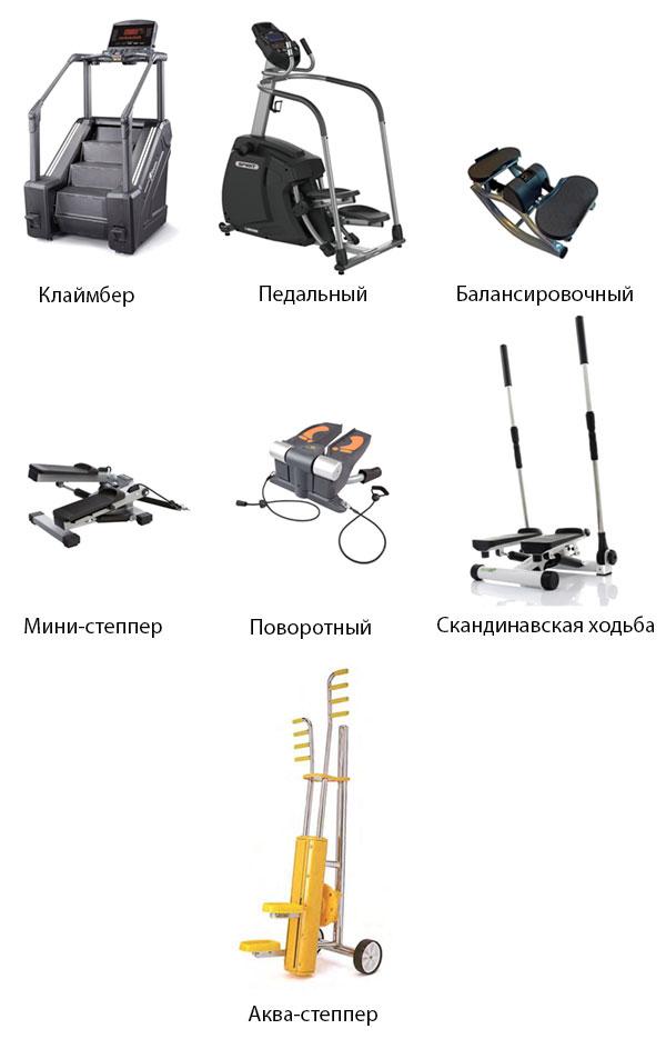 Разновидности степперов